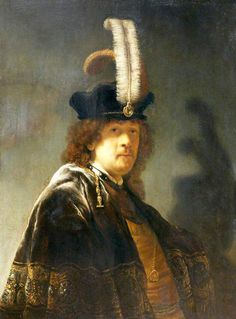 A newly discovered Rembrandt at Buckland Abbey in Devon. It's a self-portrait at age 29 recently attributed to Rembrandt by Ernst van de Wetering, the leading Rembrandt expert. Rembrandt Self Portrait, Rembrandt Art, Rembrandt Paintings, List Of Paintings, Leiden, Dutch Golden Age, Dutch Painters, Art Uk, Gravure
