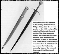 Sword from Museum of London - 1330 AD - 1340 AD