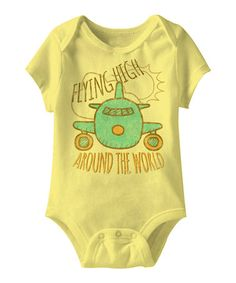 This Banana Airplane Bodysuit is perfect! #zulilyfinds