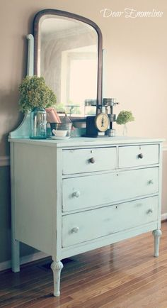 DIY chalk paint dresser makeover