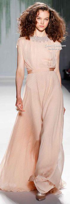 Jenny Packham Spring 2014   Peach wedding    #EndoraJewellery - Swarovski crystal jewelry
