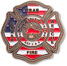 Fire department challenge coins
