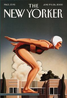 """The New Yorker"" Magazine, June, Cover Art Magazine by Kenton Nelson (b. The New Yorker, New Yorker Covers, Art Deco Posters, Vintage Posters, Vintage Ads, Pinup, Something's Gotta Give, Personal History, Vintage Magazines"
