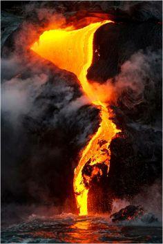lava pouring down