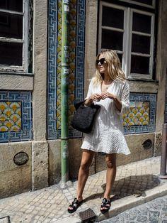 Summer Fashion White Boho dress. Sunglasses: http://www.smartbuyglasses.co.uk/designer-sunglasses/Dolce-&-Gabbana/Dolce-&-Gabbana-DG4207-Multicolor-polarised-2764T3-211675.html From: @fashionmenow