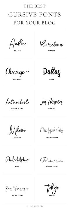 The Best Cursive Fonts for Your Blog Design #weddingquotes