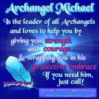 "Name meaning: ""Who is like unto God"" Michael is the leader of all the Archangels and is in charge of protection, courage, strength, faith, truth and integrity. He protects us physically, emotionally and psychically.  Call upon him also to cut through any cords which bind you to people or past memories, enabling you to move forward with your life. Crystal affinities: Lapis Lazuli and Sugalite."