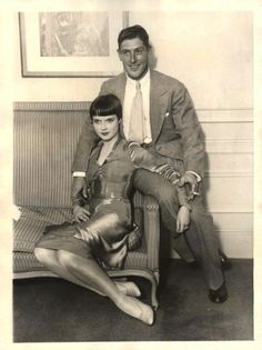 LOUISE BROOKS   |  Louise Brooks & her husband Edward Sutherland (c. 1926 - 1928)