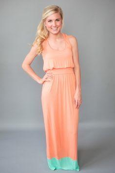 Malibu Maxi Dress-Peach