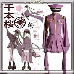 >> Click to Buy << Halloween costume for women anime clothes vocaloid Hatsune Miku Senbon sakura cosplay costume Custom #Affiliate
