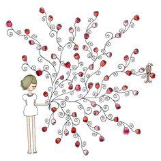 Ilustrações fofinhas de Mônica Crema