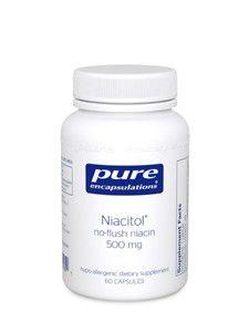 Pure Encapsulations- Niacitol 500 mg 60 vcaps
