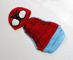 Spiderman Baby Photo Prop Spiderman Hat and by SweetBabyJamesShop, $27.95
