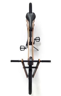 Sandwichbike flat-pack wooden bicycle