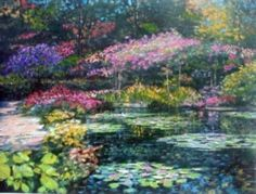 tile mosaic monet lilies | Howard Behrens- Giverny Lily Pond... Ceramic only