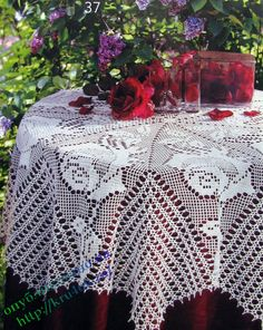 Watch The Video Splendid Crochet a Puff Flower Ideas. Phenomenal Crochet a Puff Flower Ideas. Crochet Tablecloth Pattern, Crochet Motif, Crochet Doilies, Knit Crochet, Crochet Patterns, Free Crochet, Crochet Hook Set, Thread Crochet, Crochet Stitches
