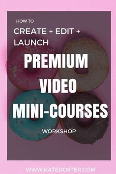 Learn how to create, edit and launch profitable mini-course in less then 48 hours. No one wants mega online courses. They want short/sweet and too the point classes. Click now or repin for later