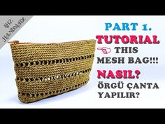 Kağıt ip ile Clutch Çanta Part (How to make Clutch bag with paper thread? Knitted Bags, Crochet Bags, Handmade Bags, Clutch Bag, Diy And Crafts, Knitting Patterns, Mesh, Make It Yourself, Purses