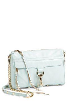A pastel beauty | Turquoise, Rebecca Minkoff 'MAC Clutch' Crossbody Bag.