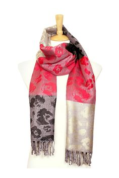 Rosalie Pashmina Scarf in Poppy on Emma Stine Limited