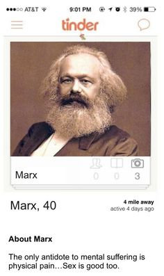 Karl Marx | Community Post: If Famous Philosophers Were On Tinder