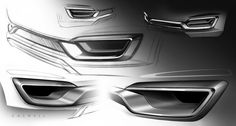 Form Car Body Design | Lincoln MKX Concept - Details Design Sketches by-John Caswell