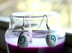 Hearthstone polymer clay earrings
