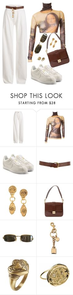 """""""Untitled #598"""" by youraveragestyle ❤ liked on Polyvore featuring Maison Margiela, NIKE, Warehouse, Chanel, CÉLINE, Tom Ford, Moschino and Etro"""