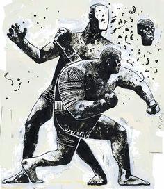 """""""Super Samoan"""" Mark hunt artwork by Gian Galang in Illustration Illustration Inspiration, Art Et Illustration, Creative Illustration, Material Arts, Atelier Theme, Character Art, Character Design, Bd Art, Posca Art"""