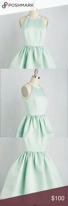 MINT GREEN VINTAGE-INSPIRED PARTY DRESS 👗 Channeled my inner Audrey Hepburn and picked up this pastel beauty for a '60s-themed wedding. ONLY WORN ONCE. True to size and very comfortable (tea length). Photographs a bit light - a shade or two darker in person. Feel free to comment if you have any questions! Make an offer! :) ModCloth Dresses Prom