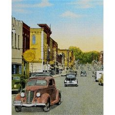 Downtown Niles Michigan/8 x 10 print/Vintage by PictoralHistory, $20.00
