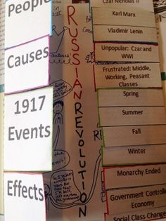 Russian Revolution Foldable activity. Includes printable template, instructions, and examples!