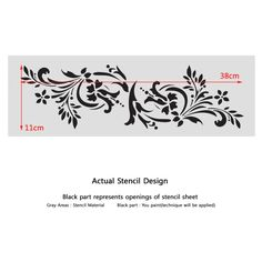 Wall Stencils Border Stencil Pattern 083 Reusable Template for DIY wall decor - J BOUTIQUE STENCILS_RoyalWallSkins