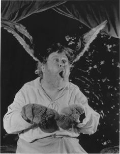 Charles Laughton as Bottom in the Royal Shakespeare Company's production of A Midsummer Night's Dream, 1959.