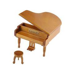 Burlywood Clockwork Piano Music Box Melody Play Box Kids Gift Kiss The Rain
