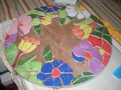 Mesa decorada con mosaico de cerámica, por Noepilar foto6