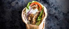 This is our version of a Greek classic. The hero of this combo is the soft, pillowy pitta, it's worth the effort to make your own