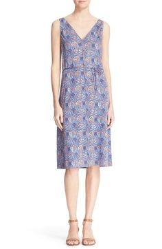 TORY BURCH 'Sandy' Floral Print Silk Shift Dress. #toryburch #cloth #
