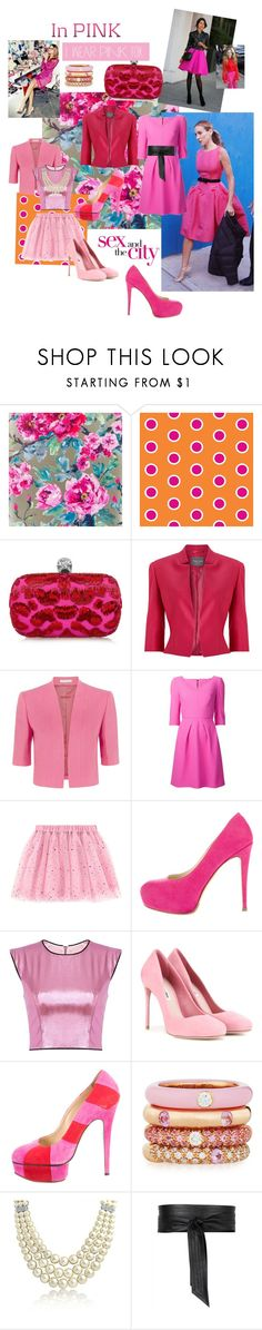 """""""Pink"""" by hbgarduno ❤ liked on Polyvore featuring Alexander McQueen, Who What Wear, Oscar de la Renta, Phase Eight, Fenn Wright Manson, Roland Mouret, Sarah Jessica Parker, Brian Atwood, Miu Miu and Charlotte Olympia"""