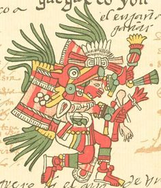 Huehuecoyotl (Very old coyote) the Aztec god of music, dance and song.   Codex Telleriano-Remensis
