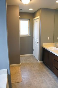 Pretty Dubs: Paint color: Sherwin Williams Dovetail maybe for hallways, kitchen dining master... Is it brown?