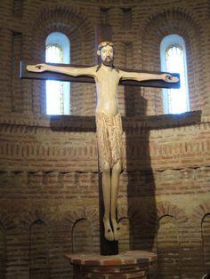Croix Crucifix Christ J/ésus catholique Eglise Religieuse D/écoration Murale Stand Antique Chapelle de la Maison Decor Color : Bronze