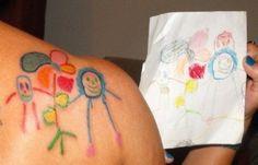 tattoo of childs art.