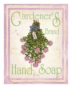 soap label  I probably like this because it is pink.  And cream and green.  And it is bordered.  It's vintage.  What's not to like.