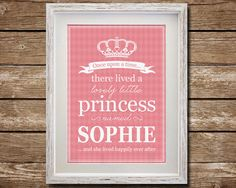 Custom Princess Art, Download, Printable, Little Princess, Nursery Decor, Digital Poster Print, Art for Girls, Girl's Name