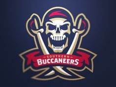 Southern Buccaneers Primary Logo by Fraser Davidson #logo #pirates | American Sport Theme Logo