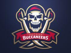 Southern Buccaneers Primary Logo by Fraser Davidson #logo #pirates | American Sport Theme Logo