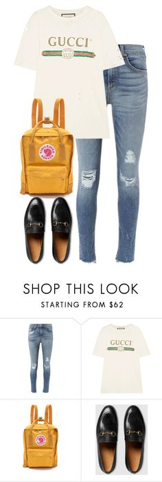 """""""Untitled #3112"""" by elenaday ❤ liked on Polyvore featuring rag & bone, Gucci and Fjällräven"""