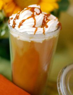 Hot Caramel Apple Cider... All sorts of warm drinks!!