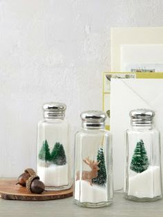 #KatieSheaDesign ♡❤ ❥ A Snow Globe idea...Santa Claus is coming to town and my…
